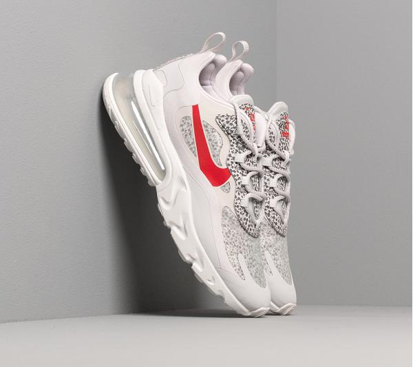 Nike Air Max 270 React Neutral Grey/ University Red-Lt Graphite