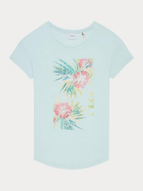 Tričko O´Neill Lw Tropical T-Shirt Modrá