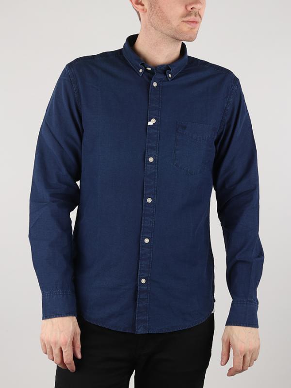 Košile Wrangler Ls 1Pkt Button Down Dark Indigo Modrá