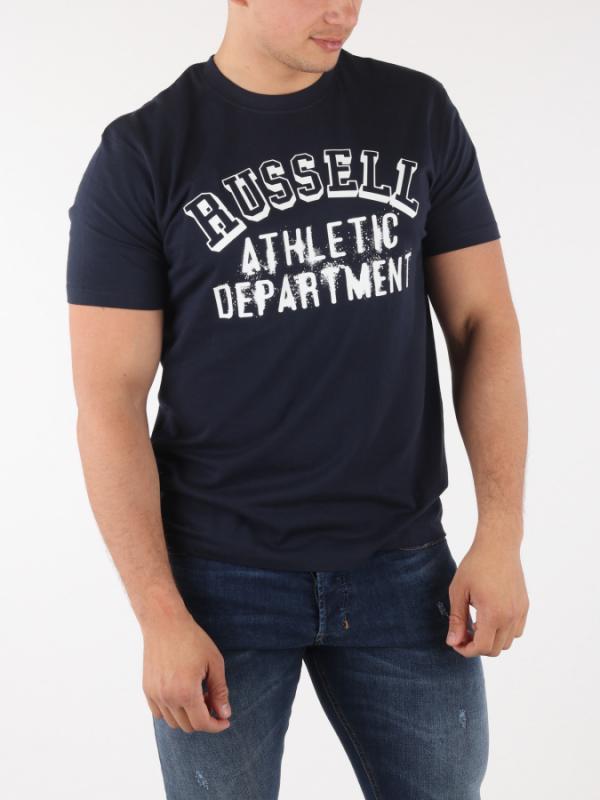 Tričko Russell Athletic RA S/S Crew Tee Modrá