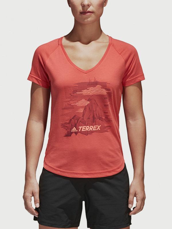 Tričko adidas Performance W Mountain Tee Oranžová