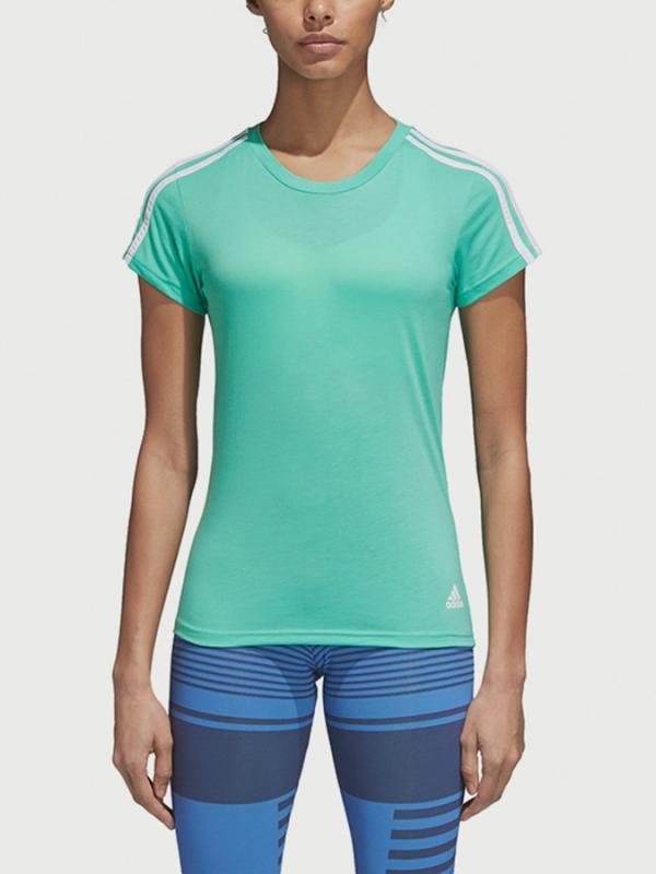 Tričko adidas Performance Ess 3S Slim Tee Zelená