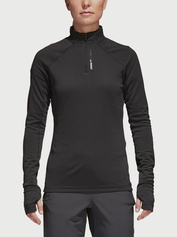 Tričko adidas Performance W Tracero 1/2Ls Černá