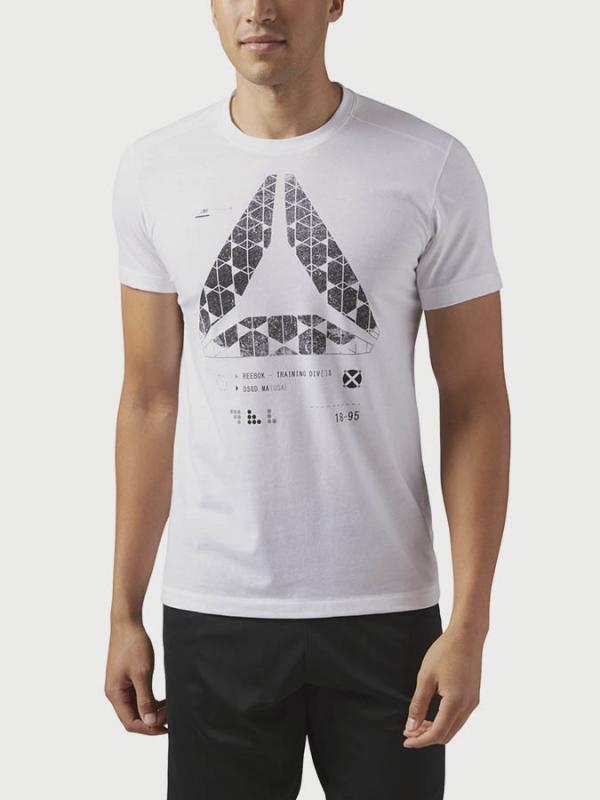 Tričko Reebok Speedwick Graphic Tee Bílá