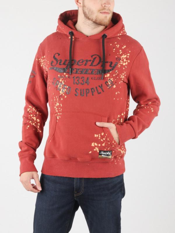 Mikina Superdry Custom 3Rd Street Hood Červená
