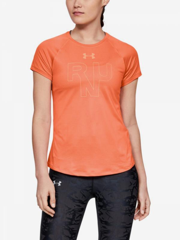 Tričko Under Armour Qualifier Run Short Sleeve-Red Oranžová