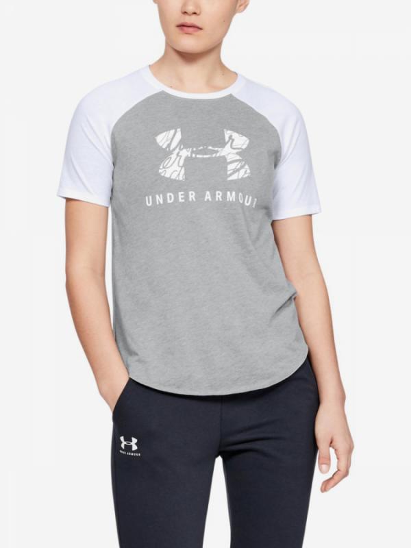 Tričko Under Armour Fit Kit Baseball Tee Graphic-Gry Šedá