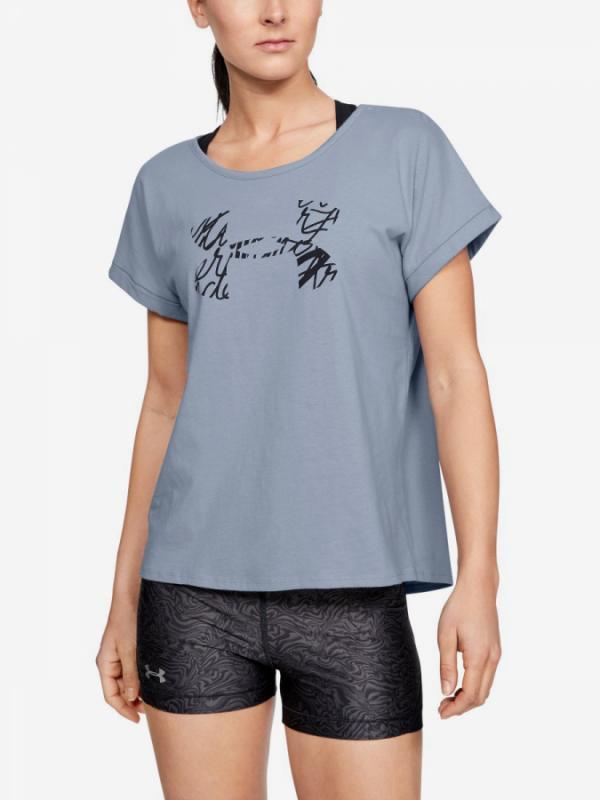 Tričko Under Armour Graphic Script Logo Fashion Ssc-Blu Modrá