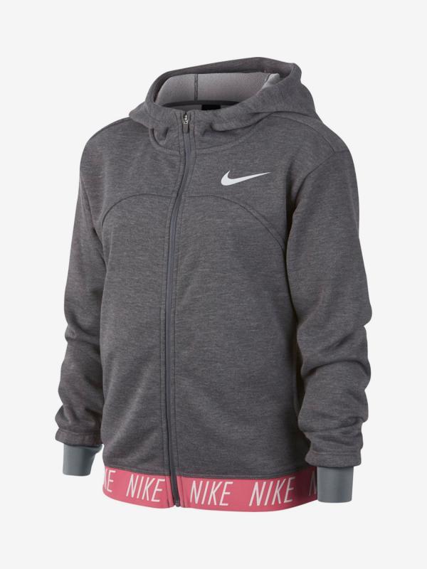 Mikina Nike G Dry Hoodie Fz Studio Šedá