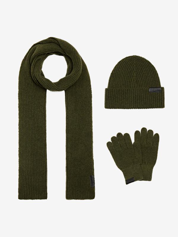 Čepice, rukavice, šála Trussardi Kit Knit Flat Scarf/Beanie/Glove Mi Barevná