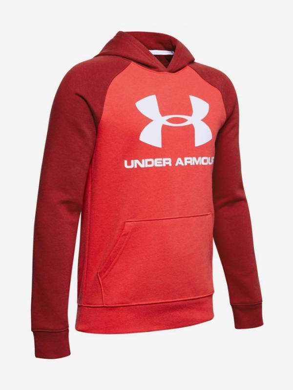 Mikina Under Armour Rival Logo Hoodie-Red Červená