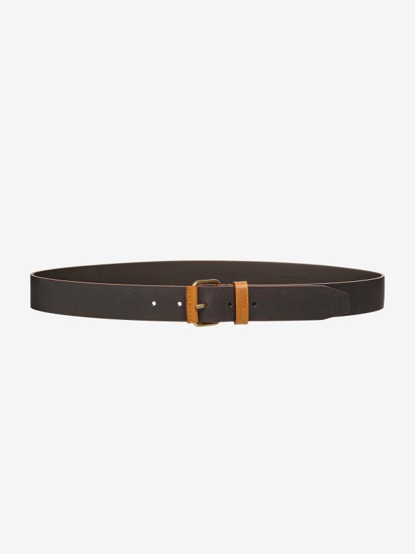 Pásek Trussardi Belt Open Design 2 Leather Černá