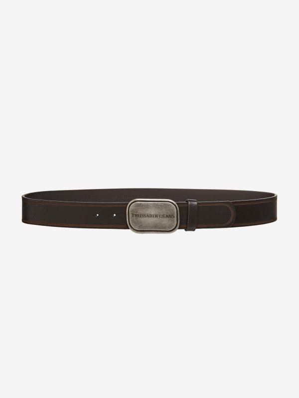 Pásek Trussardi T-Travel Weekend Travel Belt Leather Černá