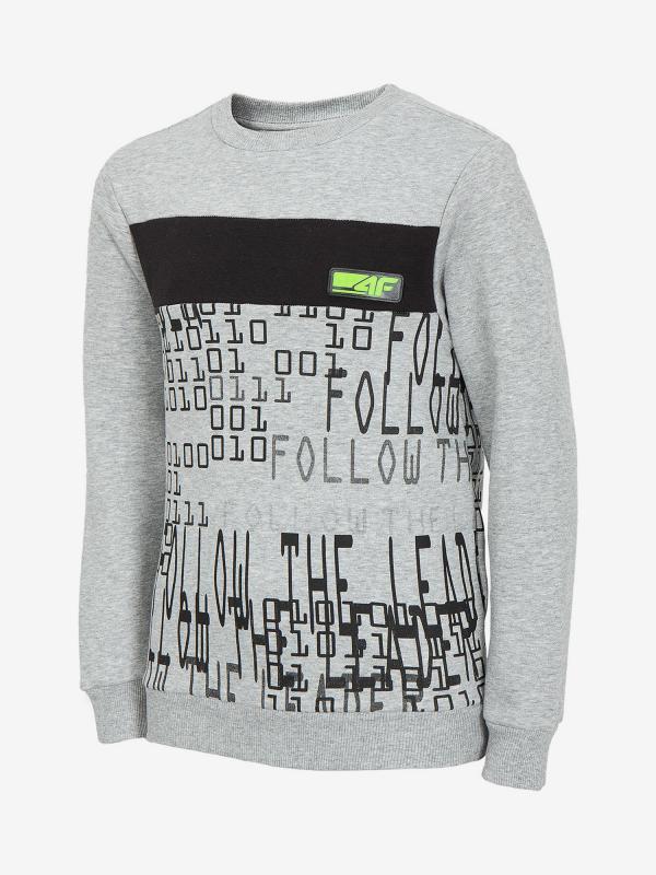 Mikina 4F Jblm210 Sweatshirt Šedá