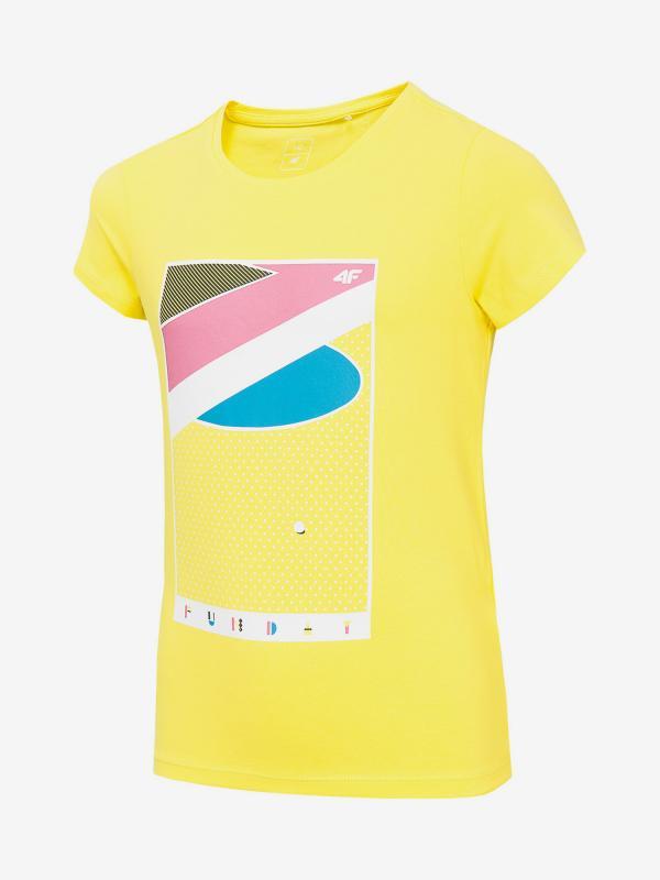 Tričko 4F Jtsd202 T-Shirt Žlutá