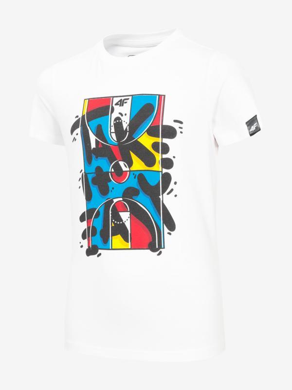 Tričko 4F Jtsm204 T-Shirt Bílá