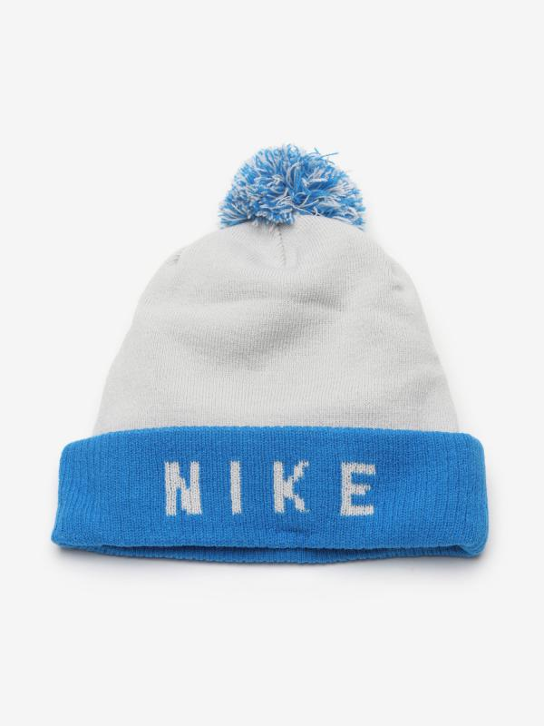 Čepice Nike U Nk Beanie Stmt Modrá