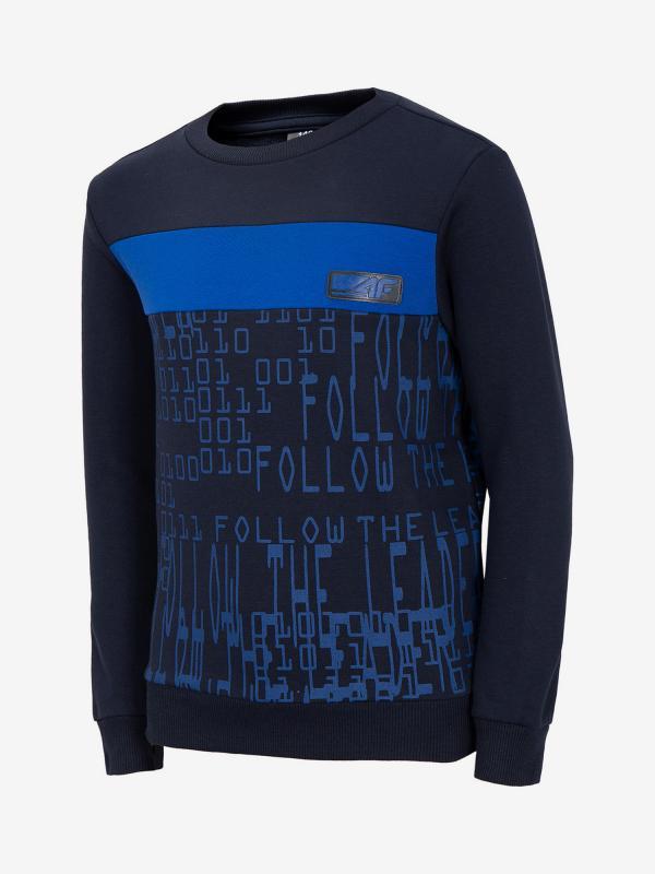 Mikina 4F Jblm210A Sweatshirt Modrá