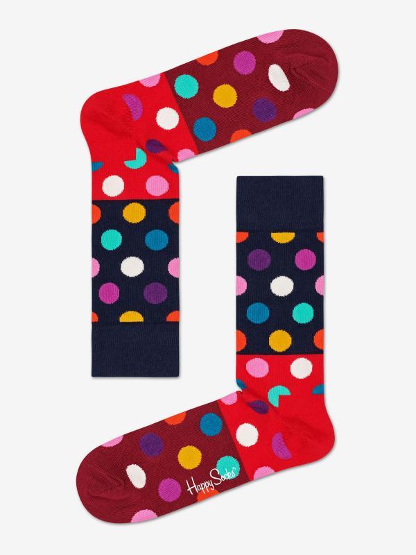Ponožky Happy Socks Big Dot Block Sock Barevná