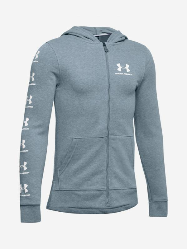 Mikina Under Armour Rival Full Zip Hoody-Gry Modrá