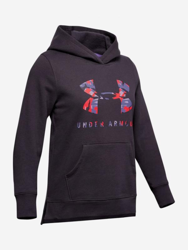 Mikina Under Armour Rival Print Fill Logo Hoodie-Ppl Fialová