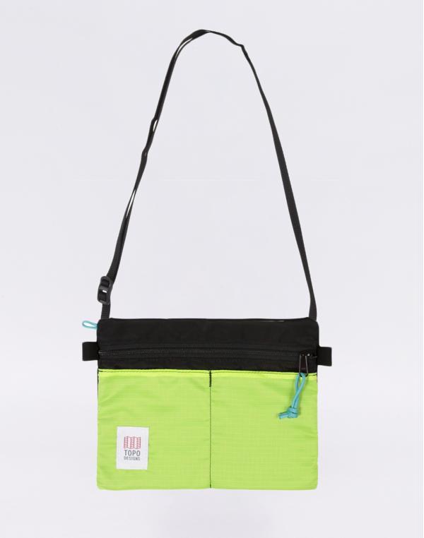 Topo Designs Accessory Shoulder Bag Black/Neon Yellow
