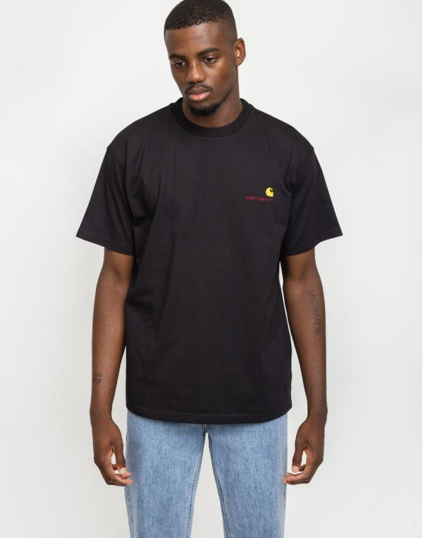 Carhartt WIP American Script T-Shirt Black S