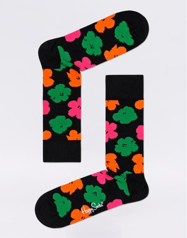 Happy Socks Andy Warhol Flower AWFLO01-9000 41-46