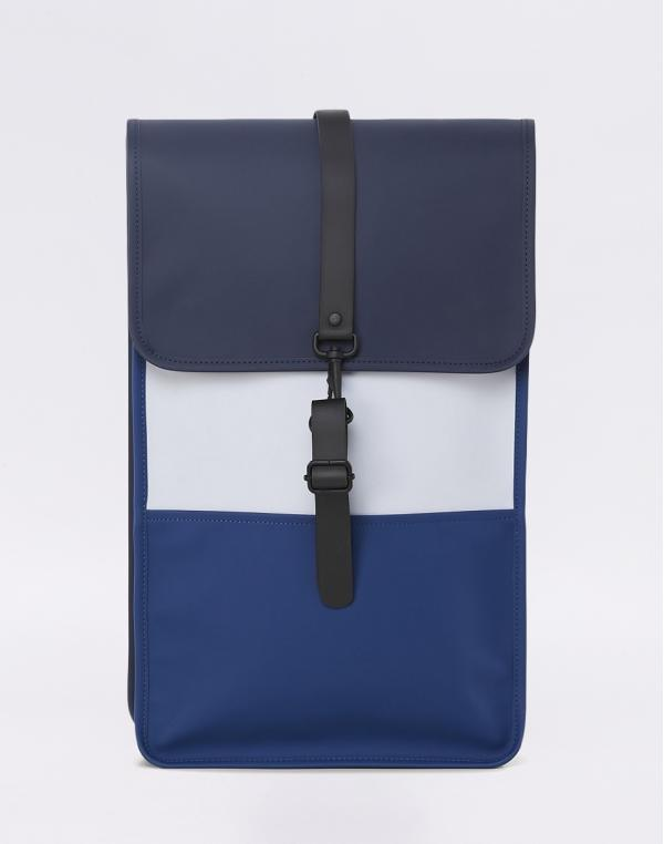 Rains Color Block Backpack Blue/Ice Grey