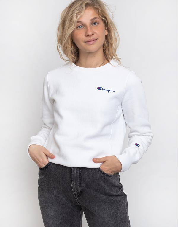Champion Crewneck Sweatshirt WHT L
