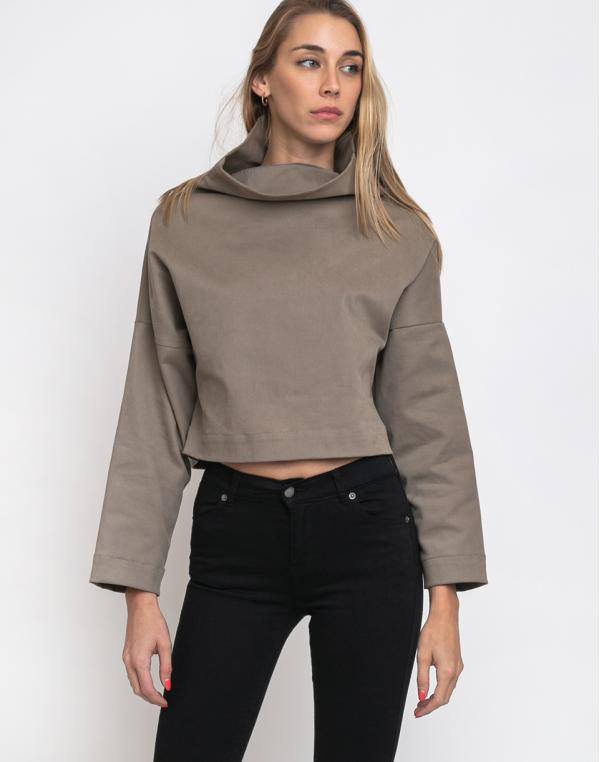 FL Crop Pullover Toffee Brown XS/S