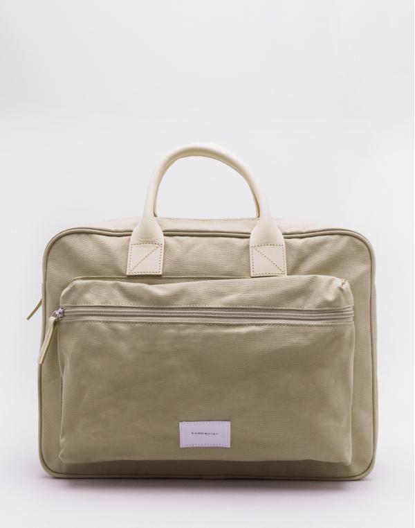 Sandqvist Emil Beige with Natural Leather