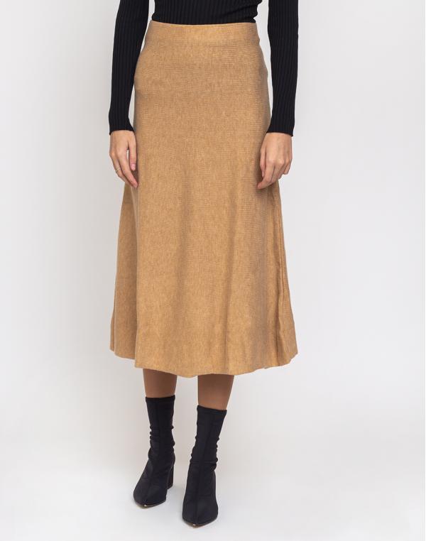 Edited Gaia Knit Skirt Beige/Camel 34