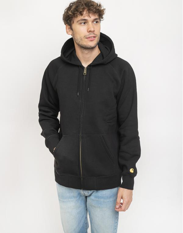 Carhartt WIP Hooded Chase Jacket Black/Gold S