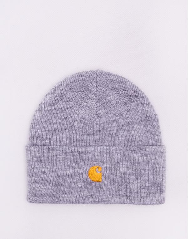 Carhartt WIP Chase Beanie Grey Heather / Gold