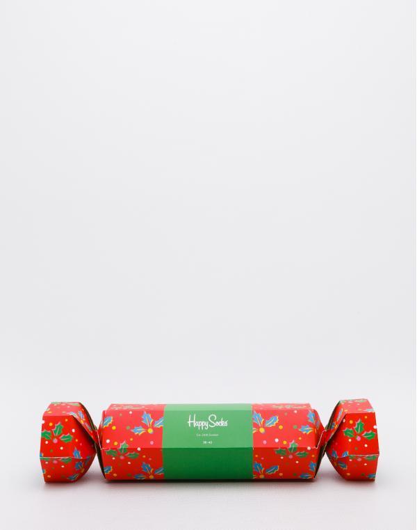 Happy Socks Christmas Cracker Holly Gift Box XHOL02-4300 36-40