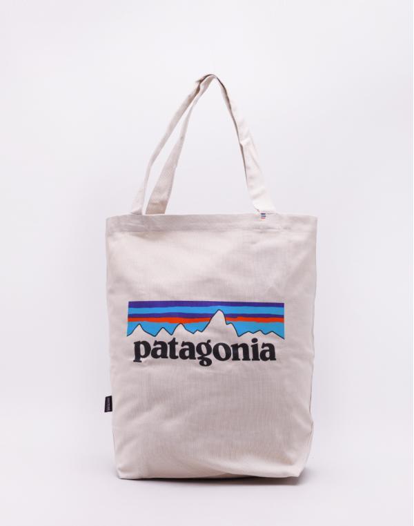 Patagonia Market Tote P-6 Logo: Bleached Stone