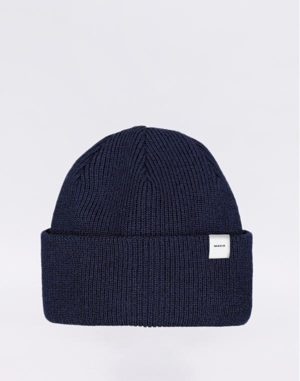 Makia Merino Thin Cap dark navy