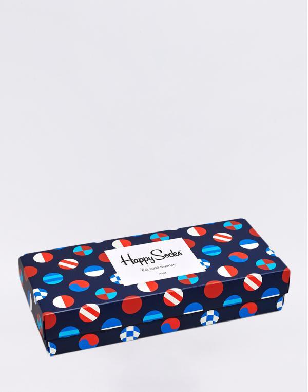 Happy Socks Navy Gift Box XNAV09-6500 36-40