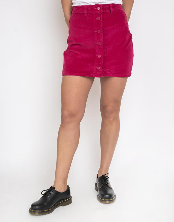 Lazy Oaf Pink Button-Through Cord Skirt Pink M