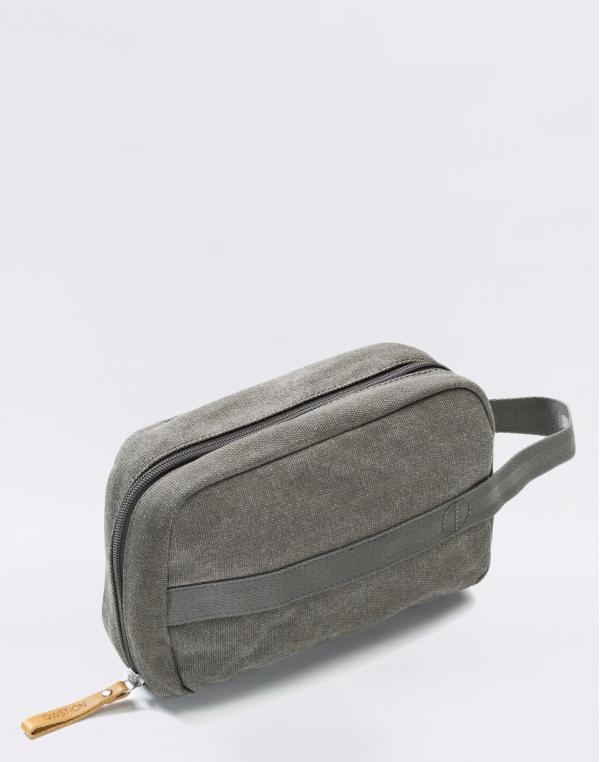 Qwstion Toiletry Kit Organic Washed Grey