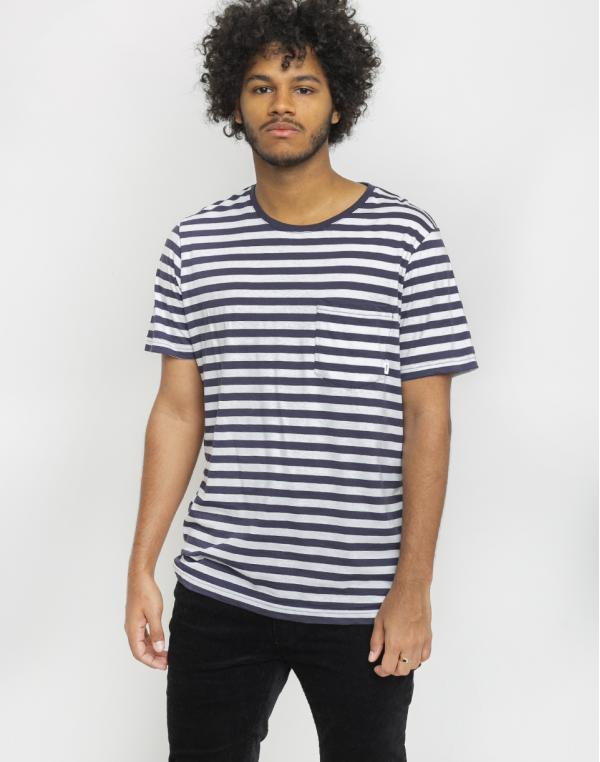 Makia Verkstad T-Shirt Navy/White S