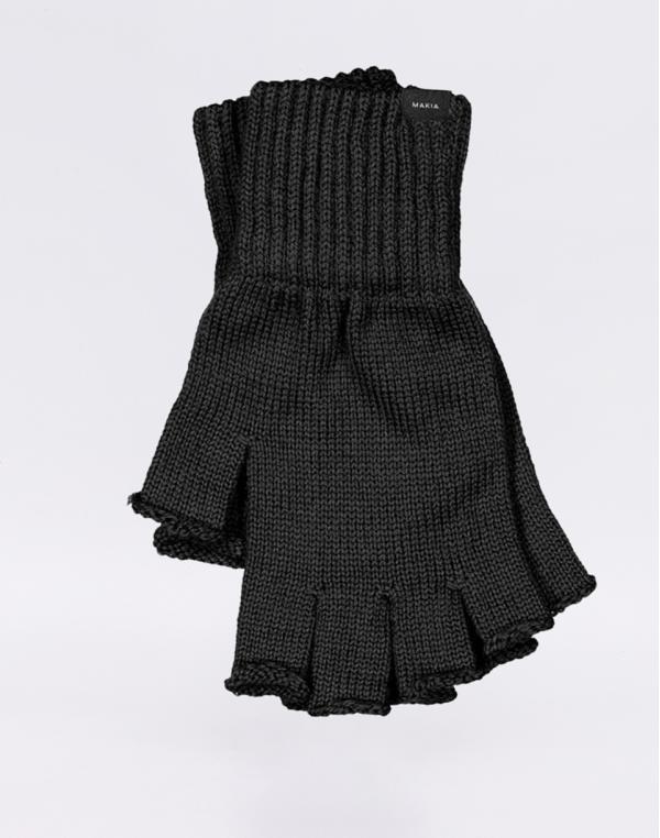 Makia Wool Fingerless Gloves black