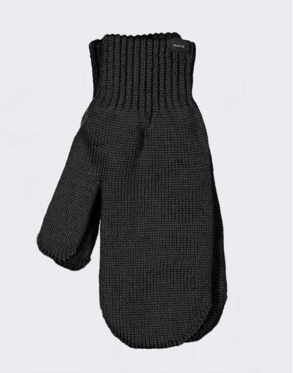 Makia Wool Mittens Black