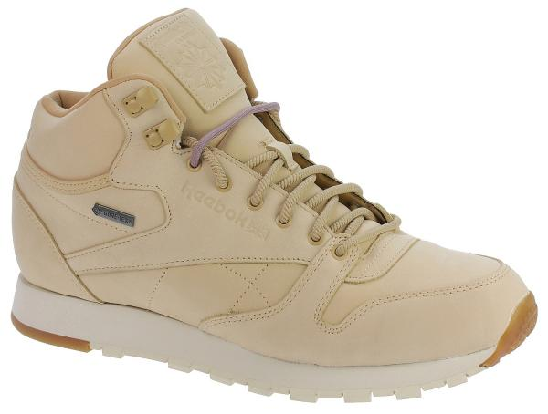 boty Reebok Classic Leather Mid GTX Thin - Beige/Paperwhite/Gum 42