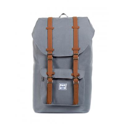 Herschel Supply Little America Grey/Tan Synthetic Leather