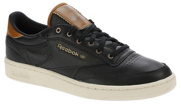 boty Reebok Classic Club C 85 Perforated Lux - Black/Paper/White/Brown Malt/Antique Copper 44