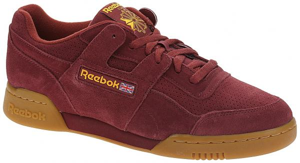 boty Reebok Classic Workout Plus MU - Meteor Red/Solar Gold/Gum 44