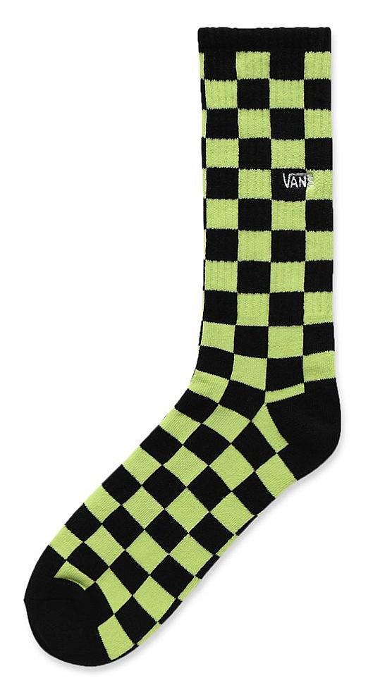 ponožky Vans Checkerboard II Crew - Sharp Green/Black 42.5-47