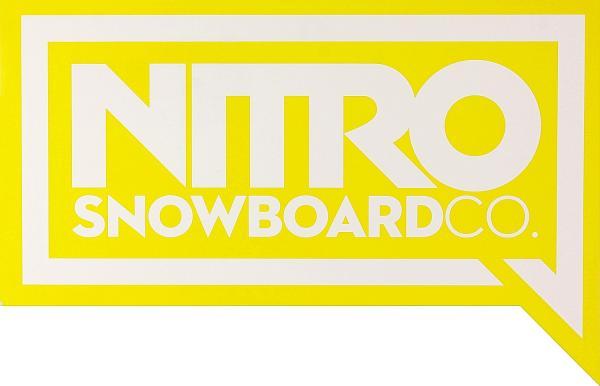 samolepka Nitro Logo - Yellow one size
